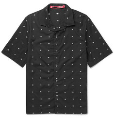 McQ Alexander McQueen Billy Camp-Collar Cotton-Jacquard Shirt