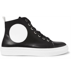 McQ Alexander McQueen Chris Panelled Leather High-Top Sneakers