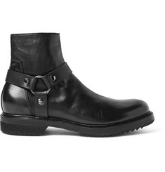 Rick Owens Leather Harness Boots
