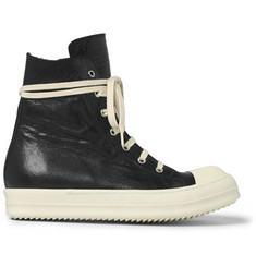 Rick Owens Ramones Cap-Toe Leather High-Top Sneakers