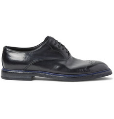 Dolce & Gabbana Marsala Polished-Leather Oxford Brogues