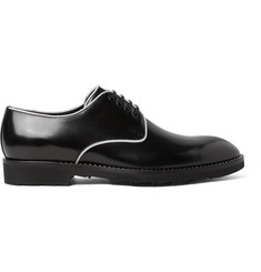 Dolce & Gabbana Contrast-Trimmed Polished-Leather Derby Shoes