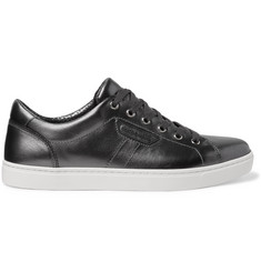 Dolce & Gabbana Metallic Leather Sneakers