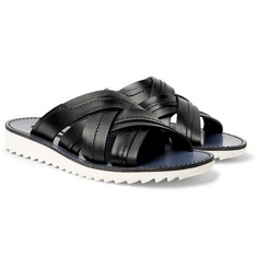 Dolce & Gabbana - Woven Leather Slides