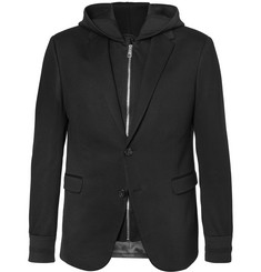 Neil Barrett Bonded-Jersey Blazer with Hooded Gilet