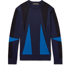 Neil Barrett Intarsia Merino Wool Sweater