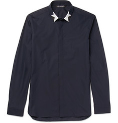 Neil Barrett Slim-Fit Printed Cotton-Poplin Shirt