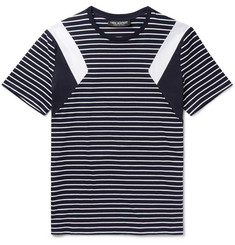Neil Barrett Slim-Fit Panelled Striped Cotton-Jersey T-Shirt