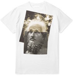 Neil Barrett Einstein Printed Cotton-Jersey T-Shirt