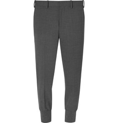 Neil Barrett Slim-Fit Tapered Jersey-Trimmed Woven Trousers