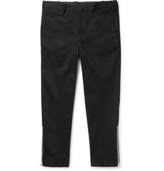 Neil Barrett Slim-Fit Tapered Cropped Stretch-Cotton Twill Trousers