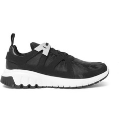 Neil Barrett Molecular Leather, Nubuck and Suede Sneakers
