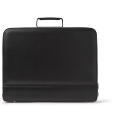 Valextra Premier Attache Pebble-Grain Leather Briefcase