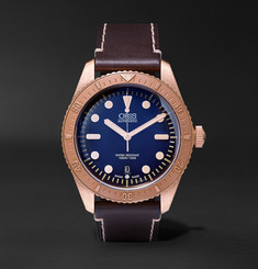 Oris Carl Brashear Bronze and Leather Watch