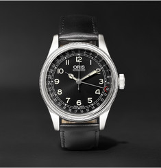 Oris Big Crown Original Pointer Date Stainless Steel and Leather Watch