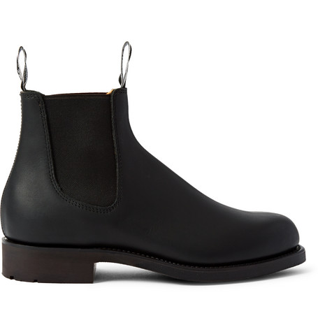 R.M.WILLIAMS Gardener Whole-Cut Leather Chelsea Boots in Black