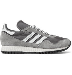 adidas Originals New York Nubuck and Mesh Sneakers
