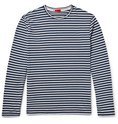 Isaia Striped Cotton-Jersey T-Shirt