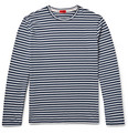 Isaia - Striped Cotton-Jersey T-Shirt