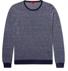 Isaia - Striped Cotton and Linen-Blend Sweater