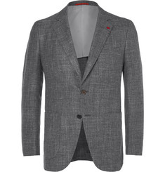 Isaia Grey Wool, Silk, Linen and Cashmere-Blend Blazer