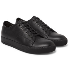 Lanvin - Cap-Toe Full-Grain Leather Sneakers