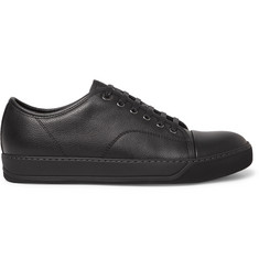 Lanvin Cap-Toe Full-Grain Leather Sneakers