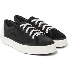Lanvin Rubber-Trimmed Suede Sneakers