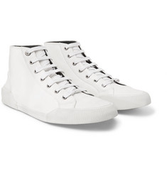 Lanvin - Distressed Cotton-Canvas High-Top Sneakers