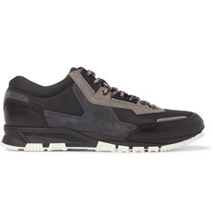 Lanvin Panelled Leather, Suede and Mesh Sneakers