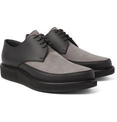 Lanvin Two-Tone Leather and Nubuck Derby Shoes