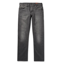 Jean Shop - Mick Slim-Fit Distressed Selvedge Denim Jeans