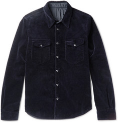 Aspesi Slim-Fit Reversible Cotton-Corduroy and Shell Jacket