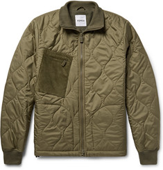 Aspesi Corduroy-Panelled Quilted Shell Jacket