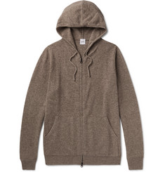 Aspesi Wool, Yak and Cashmere-Blend Zip-Up Hoodie