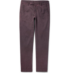 Massimo Alba Slim-Fit Tapered Coated Stretch-Cotton Trousers