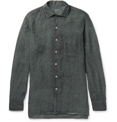 Massimo Alba Watercolour-Dyed Washed-Ramie Shirt
