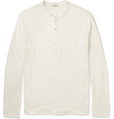 Massimo Alba Slim-Fit Linen Henley T-Shirt