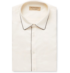 Burberry Piped Silk-Twill Shirt