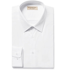 Burberry - White Slim-Fit Stretch Cotton-Blend Poplin Shirt