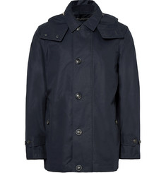 Burberry Cotton-Blend Gabardine Hooded Coat