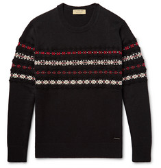 Burberry Fair Isle Cashmere and Wool-Blend Sweater
