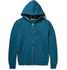 Burberry Fleece-Back Cotton-Blend Jersey Zip-Up Hoodie