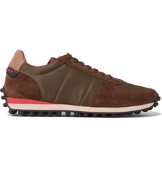Burberry Panelled Suede and Mesh Sneakers