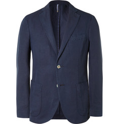 Incotex Blue Slim-Fit Linen and Cotton-Blend Blazer