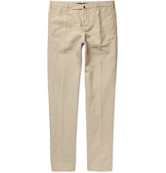 Incotex Chinolino Slim-Fit Linen and Cotton-Blend Twill Chinos