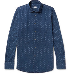 Incotex Slim-Fit Cutaway-Collar Printed Cotton Shirt