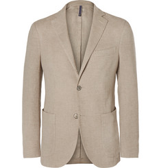 Incotex Beige Slim-Fit Linen and Cotton-Blend Blazer
