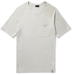 Lanvin Distressed Loopback Cotton-Blend Jersey T-Shirt