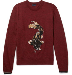 Lanvin Koi-Intarsia Wool Sweater